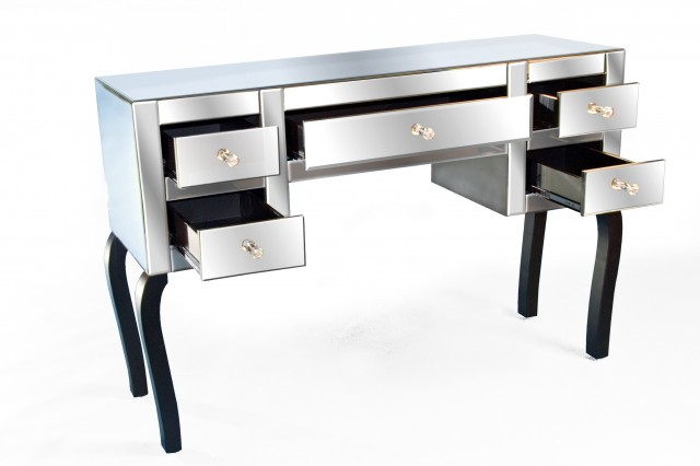 Mirrored Dressing Table With 5 Drawers
