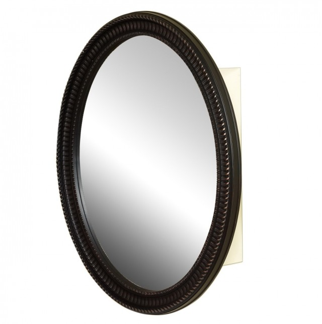 Round Oil Rubbed Bronze Mirror