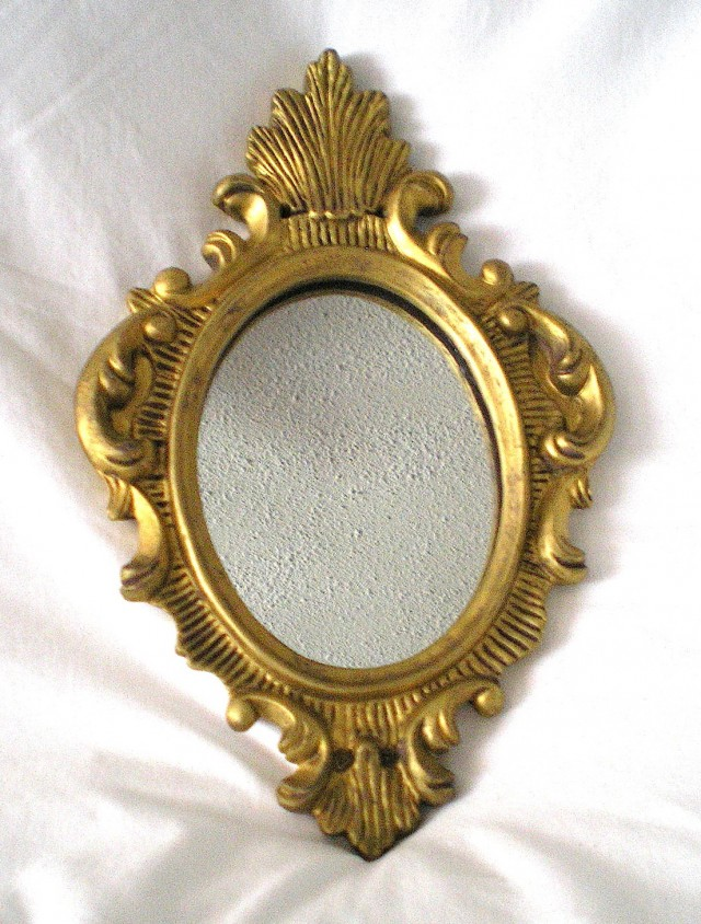 Small Gold Wall Mirrors