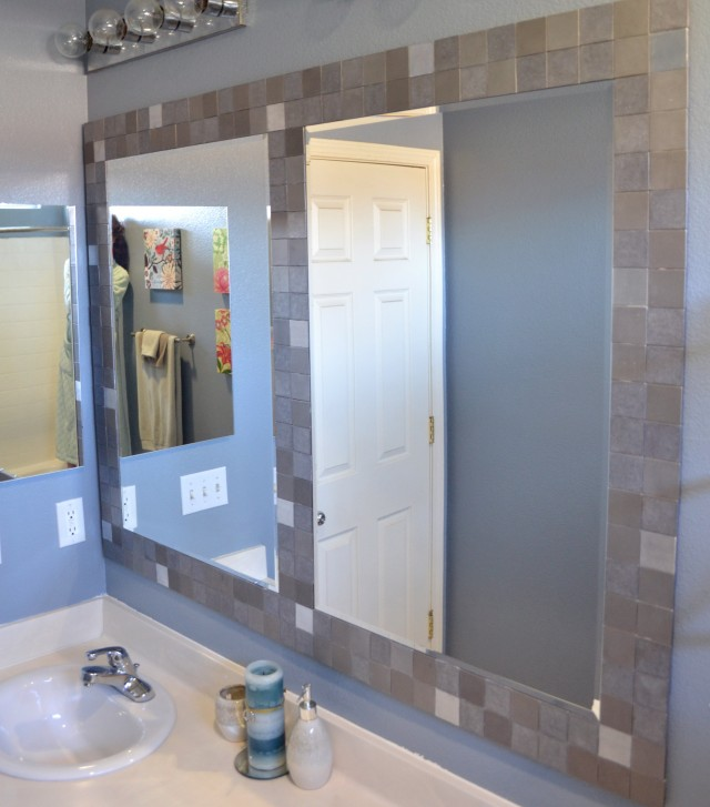 Tile Framed Mirrors Bathroom