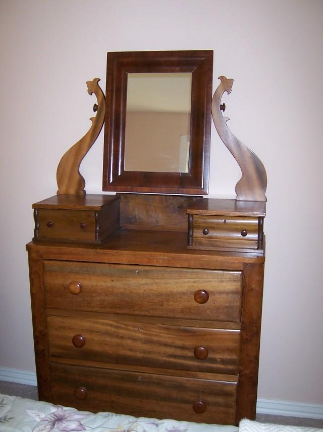 Vintage Dresser And Mirror