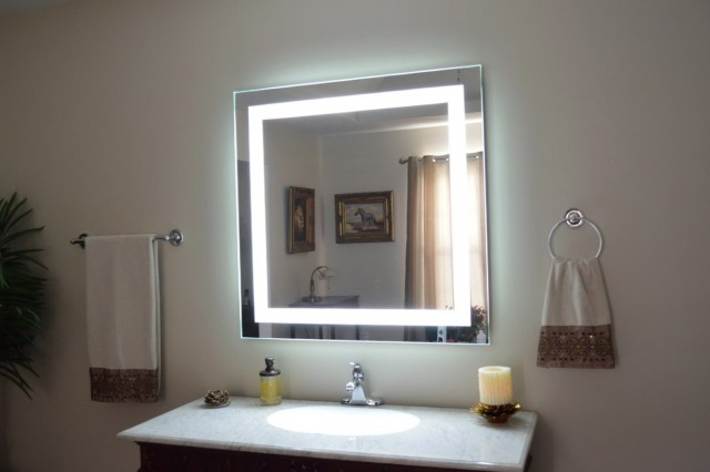 Wall Mount Makeup Mirror Led