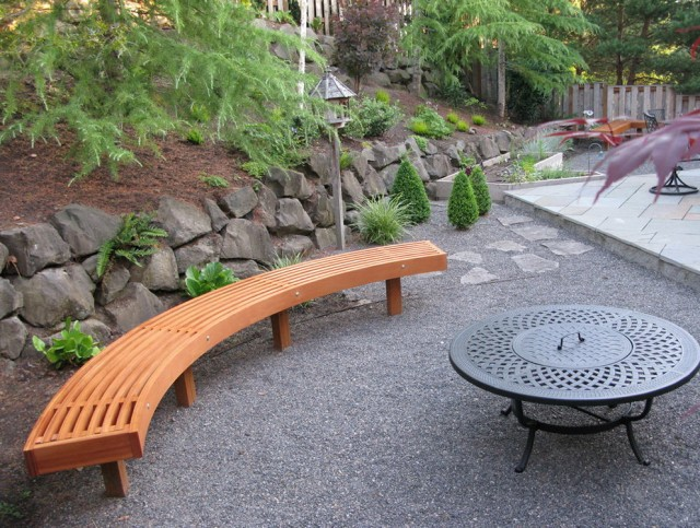 Curved Outdoor Bench Seating