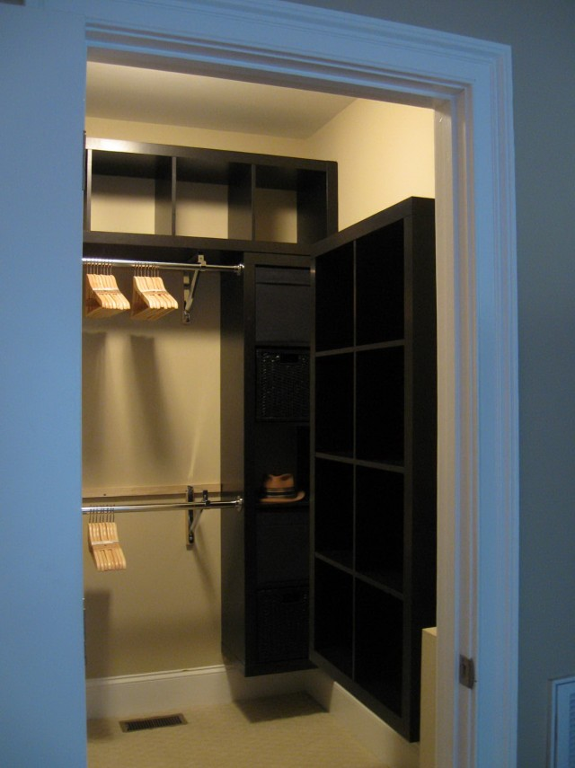 Closet Rod Support Ideas