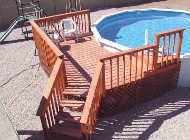 Pool Deck Steps Designs