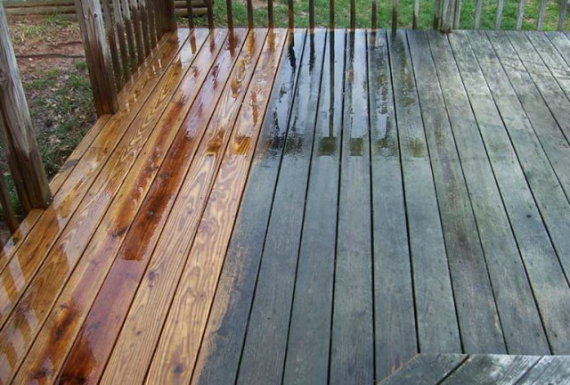 Pressure Washing Deck For Staining