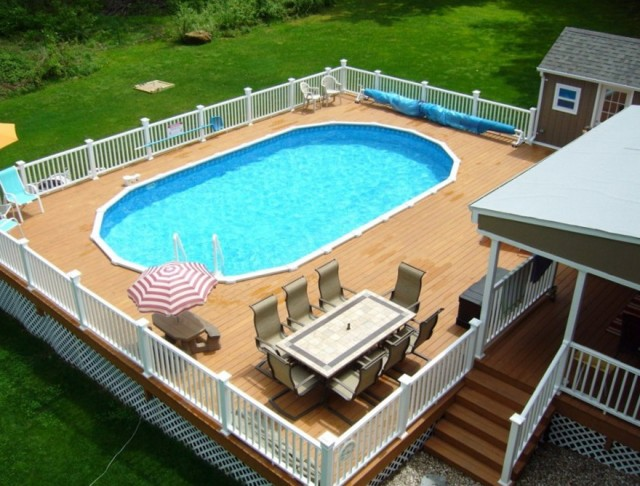 Above Ground Swimming Pool Deck Ideas