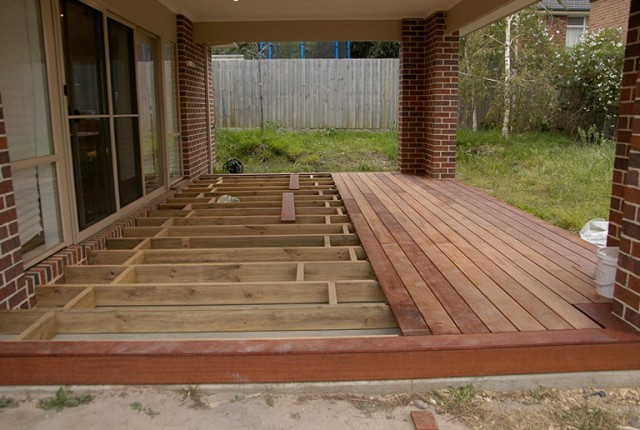 Building A Wood Deck Over Concrete