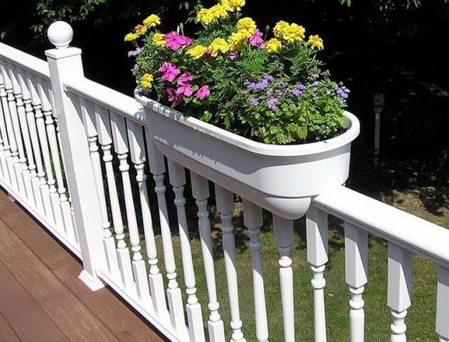 Deck Railing Planters Home Depot