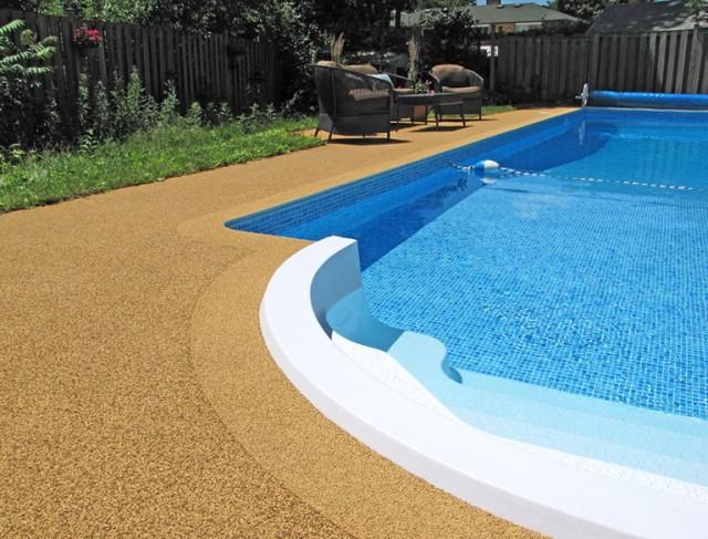 Rubber Pool Deck Resurfacing
