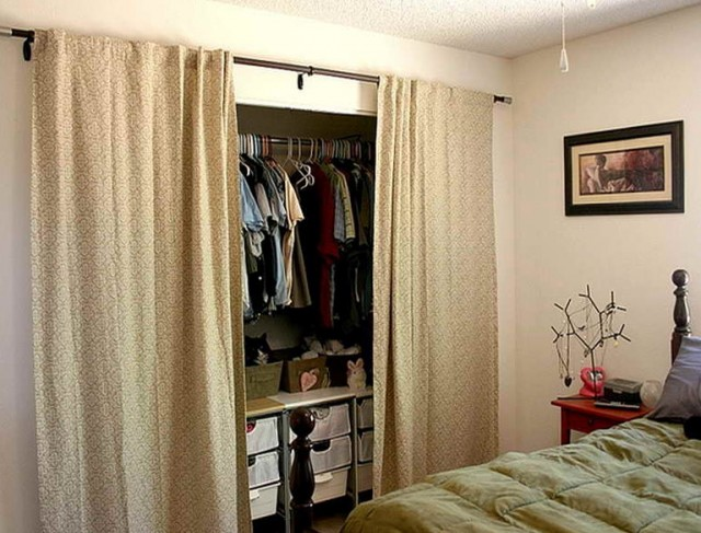 Using Curtains For Closet Doors