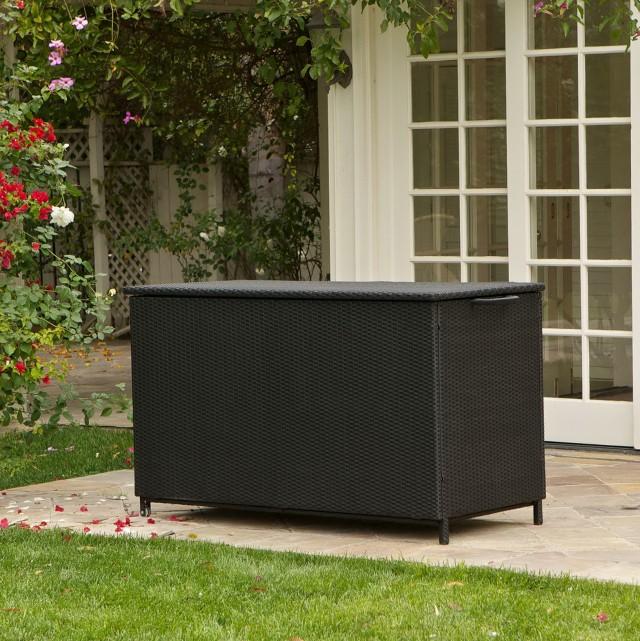 Black Deck Box Bench