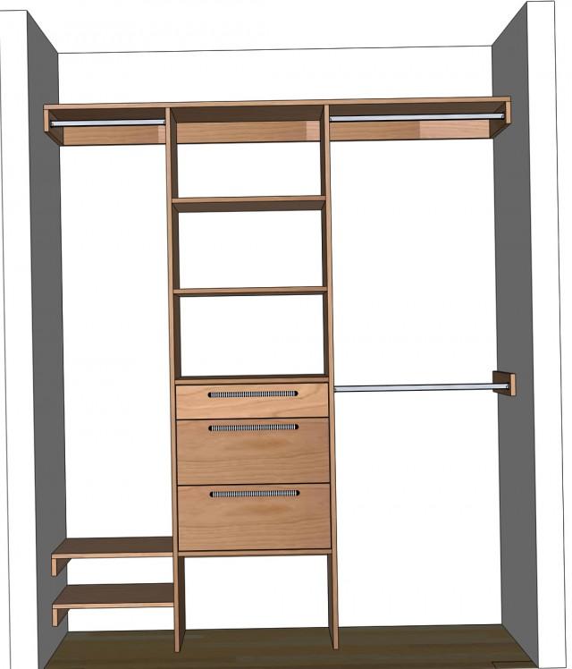 Closet Organizer Design Plans