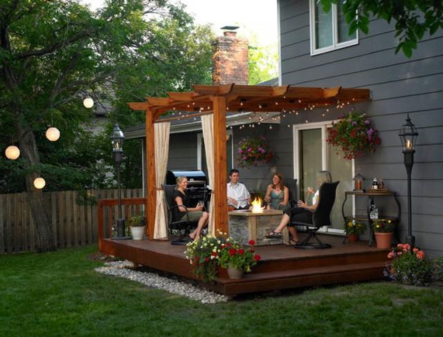 Outside Deck Ideas With Pergola