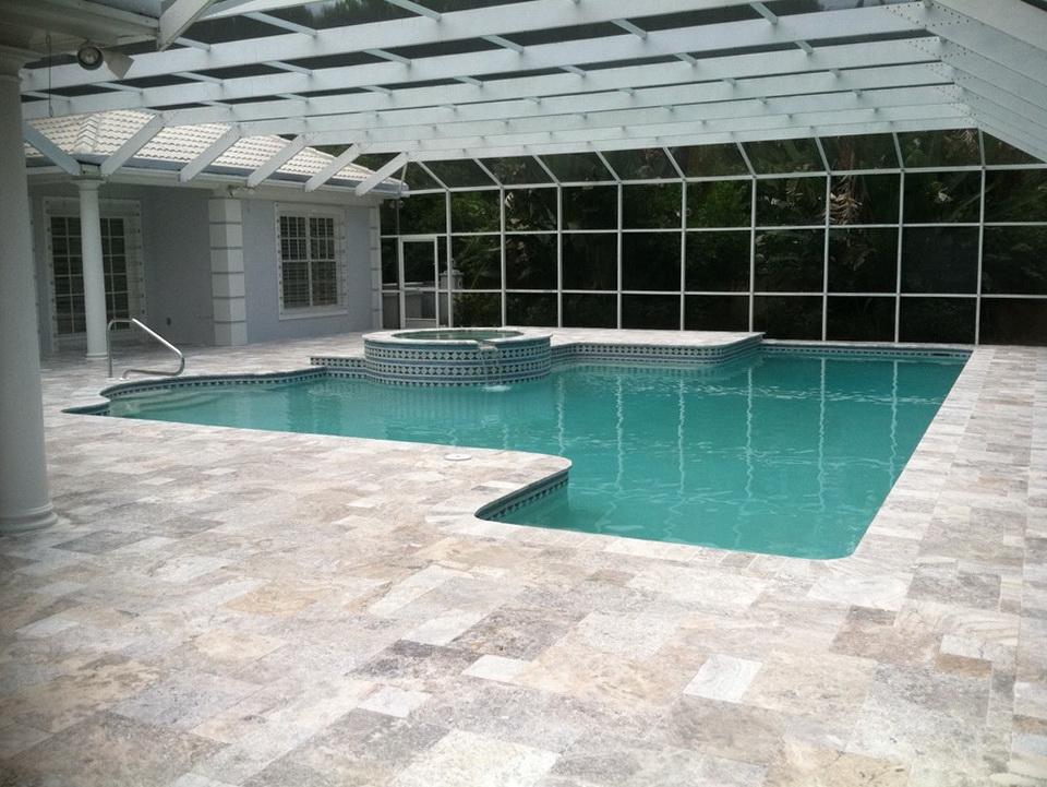 Pool Deck Pavers Over Concrete