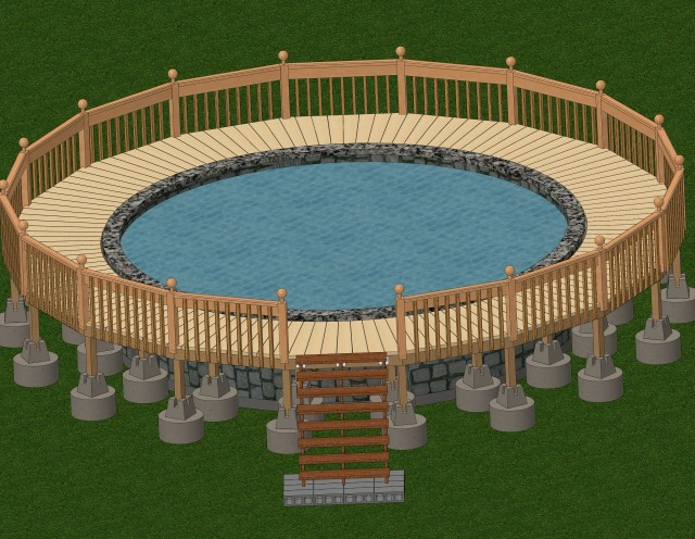 Deck Building Plans For Above Ground Pools
