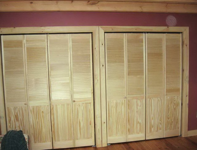Half Louvered Bifold Closet Doors