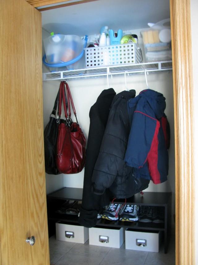 Organize A Small Coat Closet