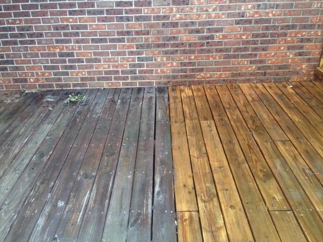 Power Washing Deck To Remove Stain
