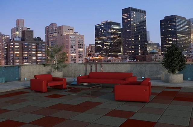 Roof Deck Tiles Rubber