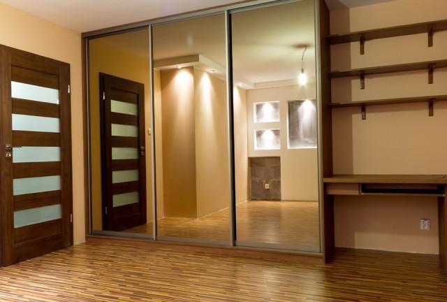 Wood Closet Doors With Mirrors