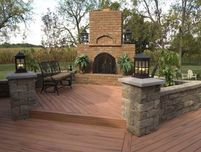 Wood Patio Deck Designs