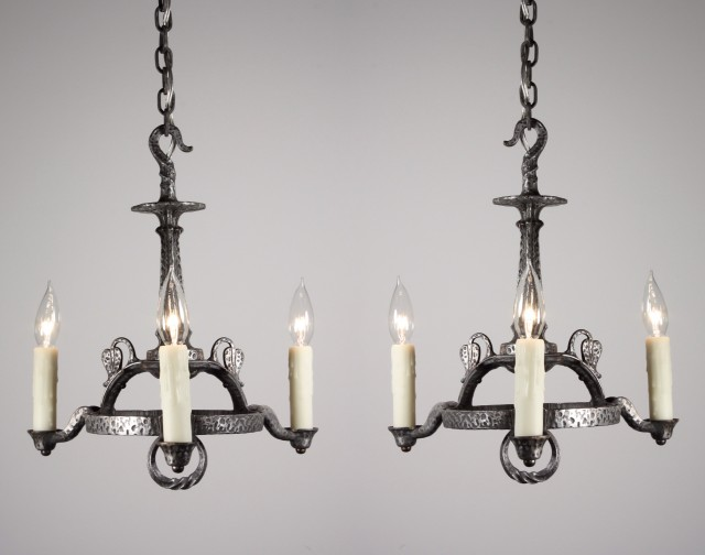 Cast Iron Chandelier For Sale