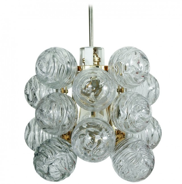 Glass Ball Cluster Chandelier