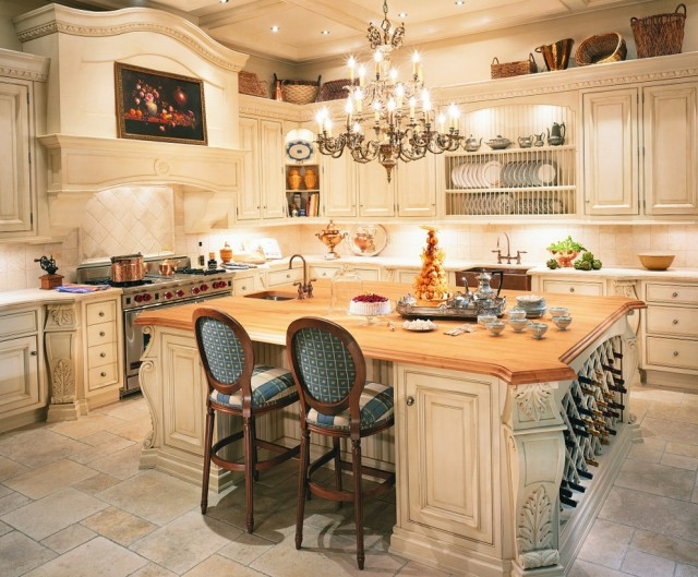 Kitchen Chandeliers Over Island