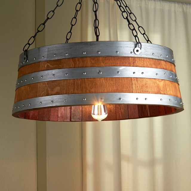 Napa Wine Barrel Chandelier