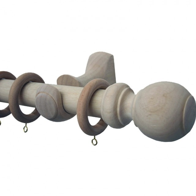 Natural Wood Curtain Rods