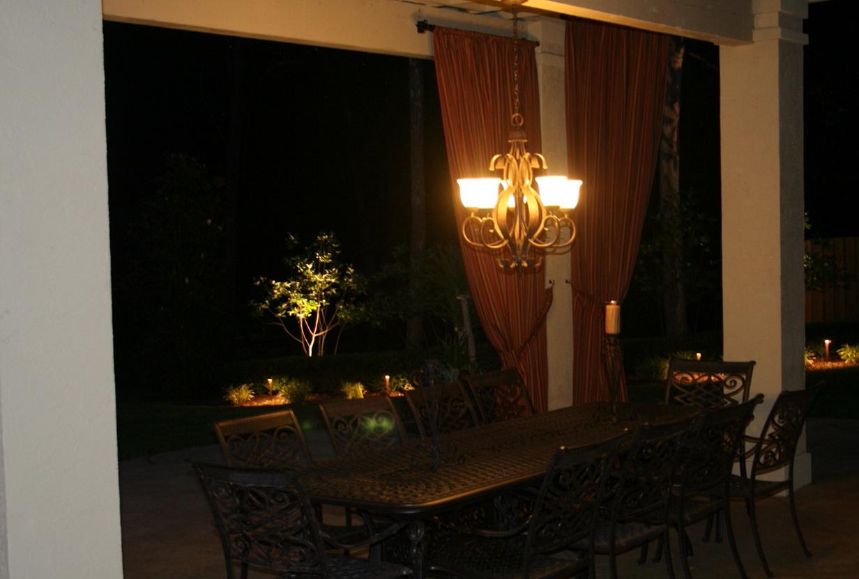 Outdoor Candle Chandelier Lighting