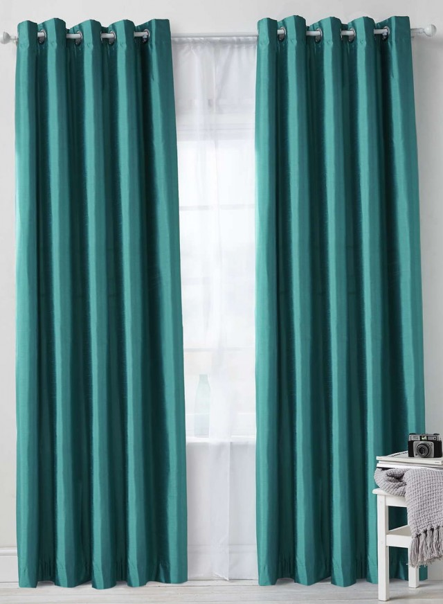 Teal Room Darkening Curtains