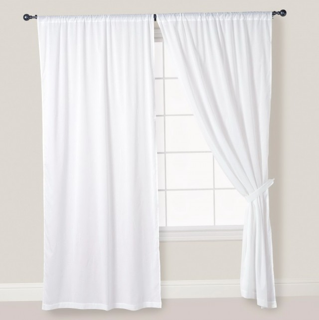 White Linen Curtains 96