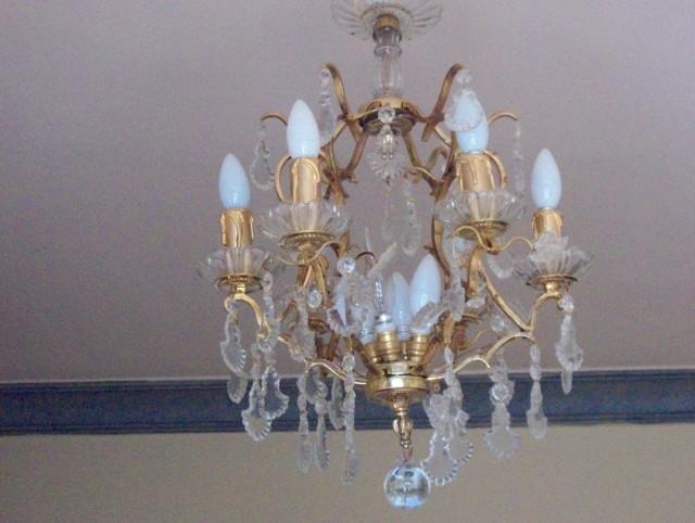 Antique Bronze Crystal Chandelier