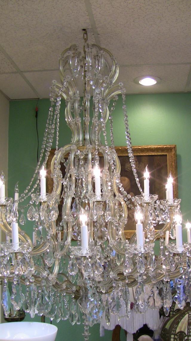 Antique Crystal Chandelier Parts