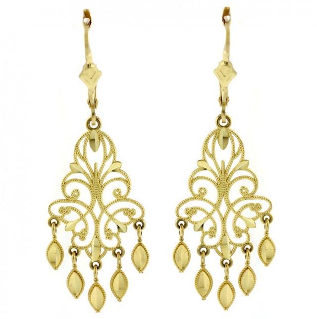 Big Gold Chandelier Earrings