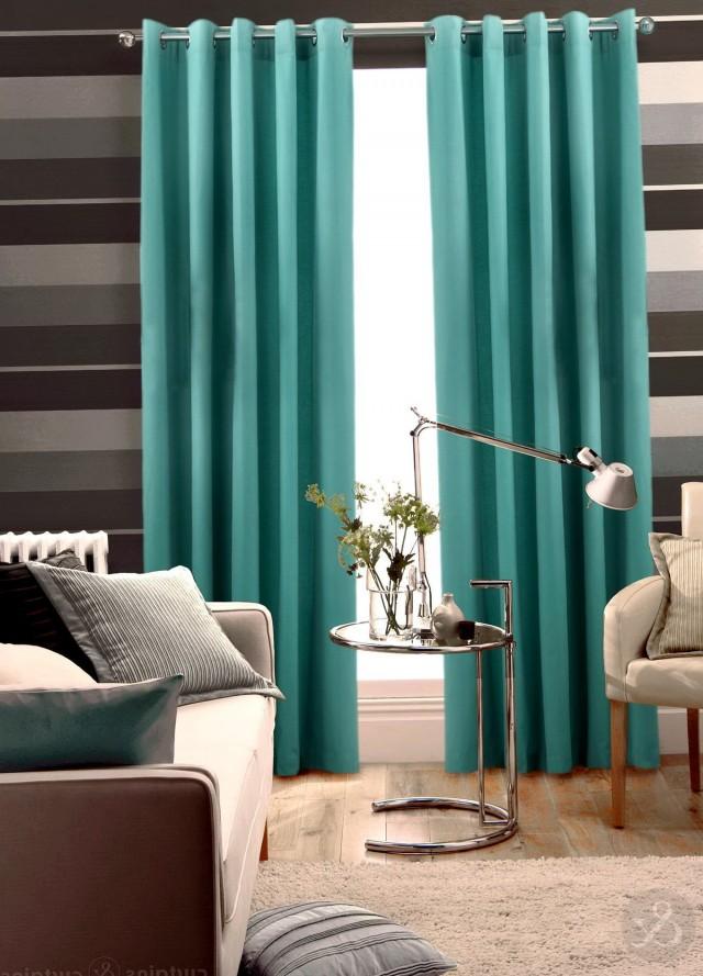 Blue Green Curtain Panels
