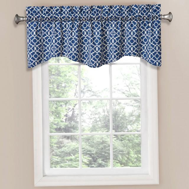 Cobalt Blue Kitchen Curtains