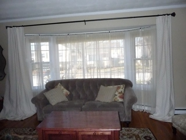 Curved Living Room Curtain Rods