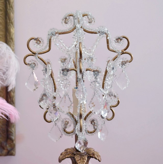 Gold Chandelier Table Lamps