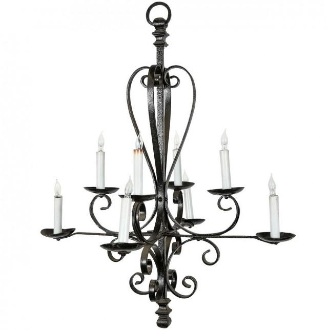 Iron Candle Chandelier Lighting