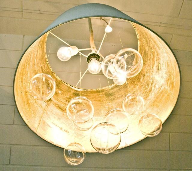 Lamp Shade Chandelier Diy