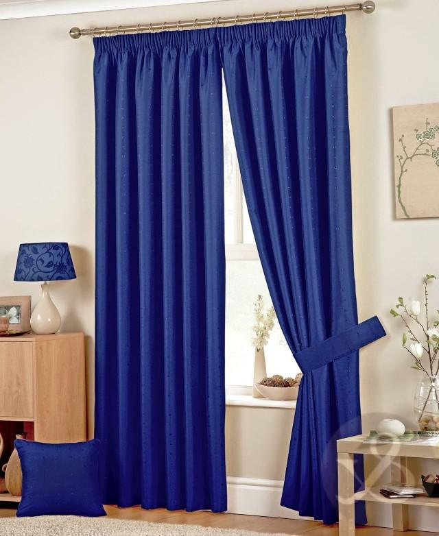 Navy Blue Shower Curtains