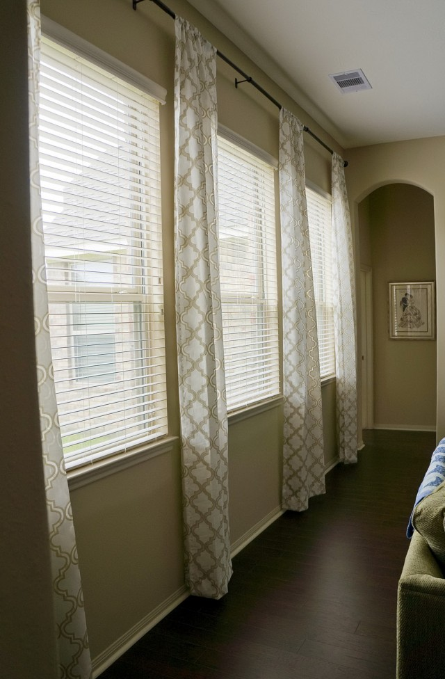 Putting Curtains Over Blinds