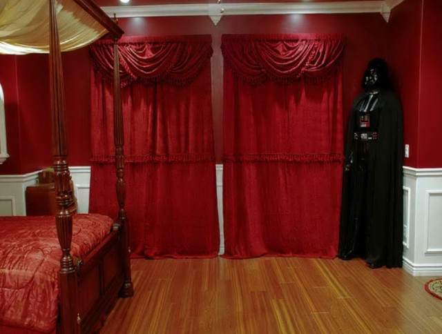 Red And White Curtains For Bedroom