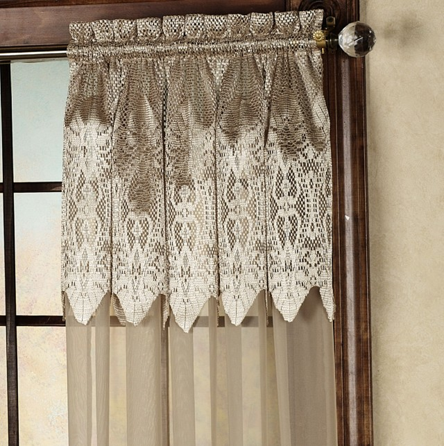 Semi Sheer Curtains With Attached Valance