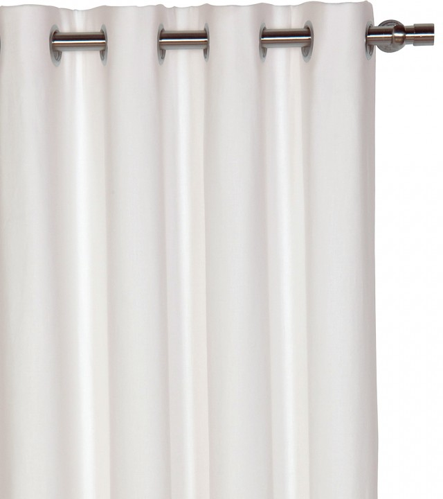 White Grommet Curtains Blackout