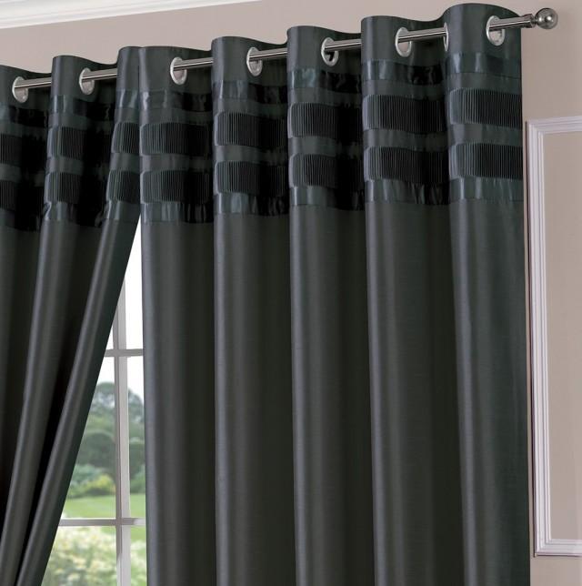 Dark Grey Curtain Panels