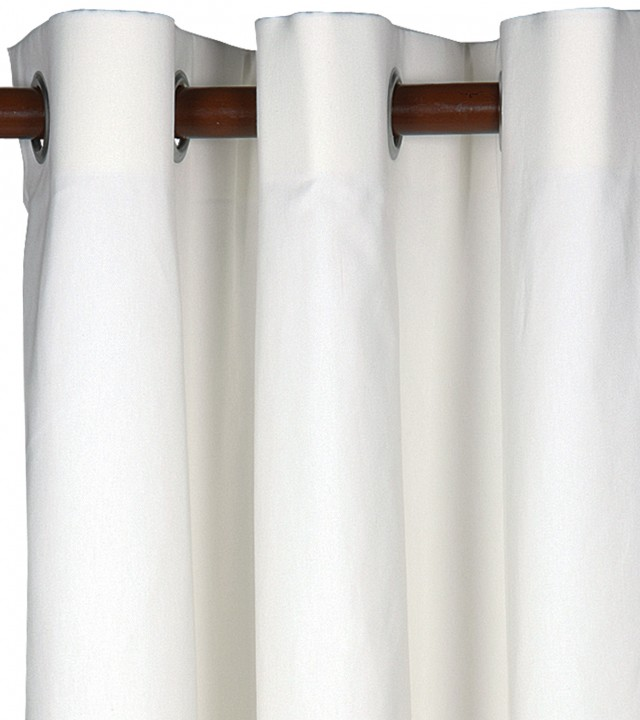 Grommet Blackout Curtains White